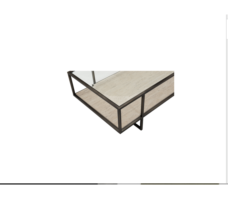 Harlow Metal  & Stone Cocktail Table