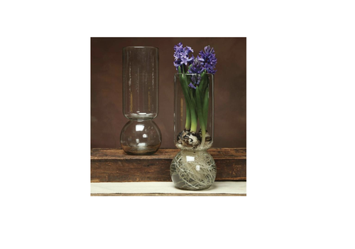 HomArt Large Recycled Glass Bulb Vase-15""