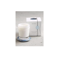 MER-SEA & Co. LARGE BOXED CANDLE WITH AGATE COASTER