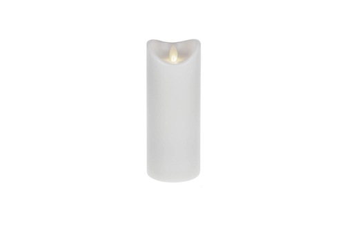 "3"" Dia White Wax Pillar LED Candle"