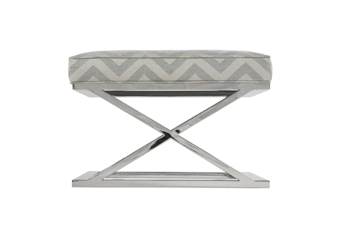 Robin Bruce Pike Grey Accent Ottoman - *Floor Model