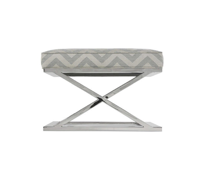 Pike Grey Accent Ottoman-Floor Model