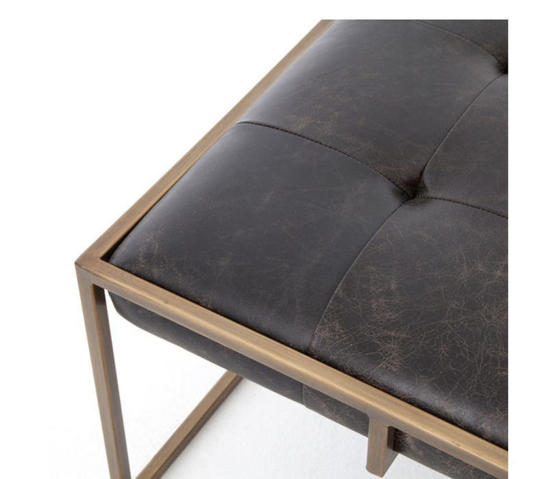 Oxford Leather  Square Cocktail Table