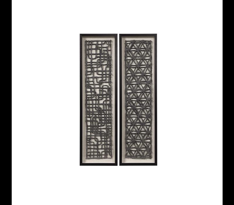 "CARONI SHADOW BOX  55'H X 16""W - S/2"