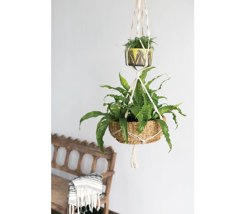 Double Macrame Hanging Planter