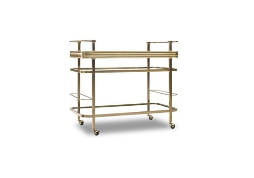 Genevieve Gold Bar Cart