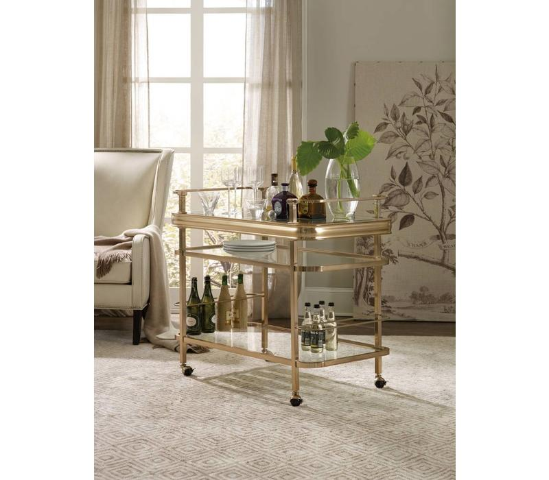 Genevieve Gold Bar Cart-Floor Model
