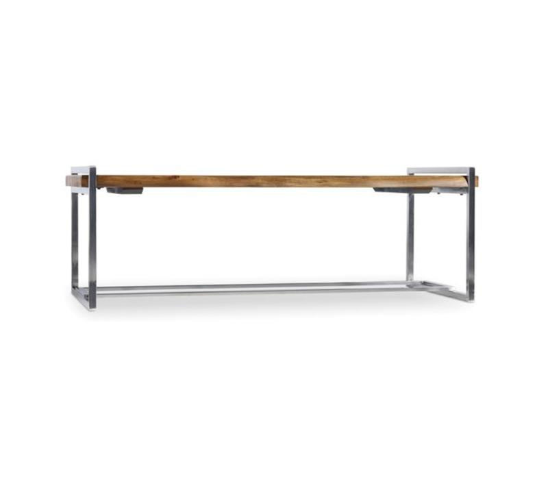 Live Edge Wood & Steel Cocktail Table