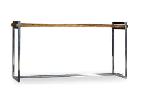 Live Edge Wood & Steel Console Table - *Floor Model