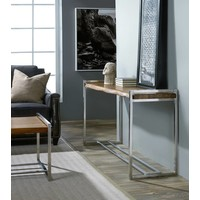 Live Edge Wood & Steel Console Table