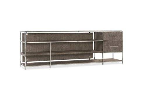 Storia Wood & Steel 84in Entertainment Console