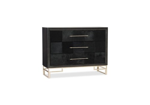 Hudson Hair on Hide Leather Accent Chest