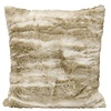 Pima Tan Faux Fur Square Pillow