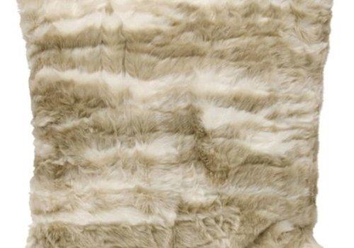 Pima Tan Faux Fur Square Pillow