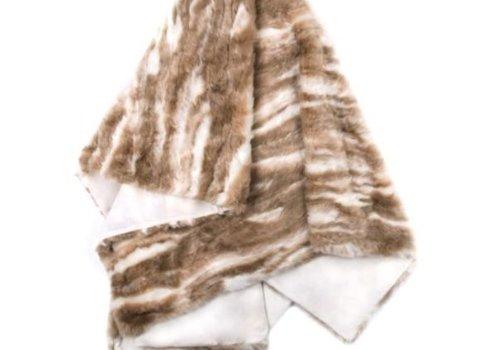 Pima Tan Faux Fur Throw