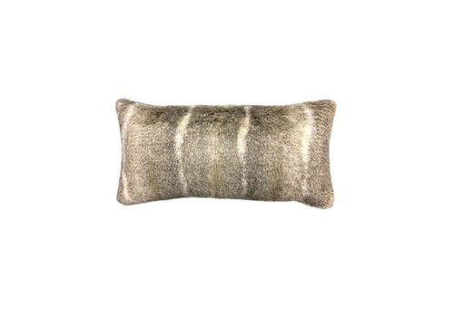 Aztec Taupe Faux Fur Bolster Pillow