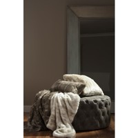 Aztec Taupe Faux Fur Throw