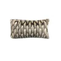 Montauk Black & Taupe Faux Fur Bolster Pillow