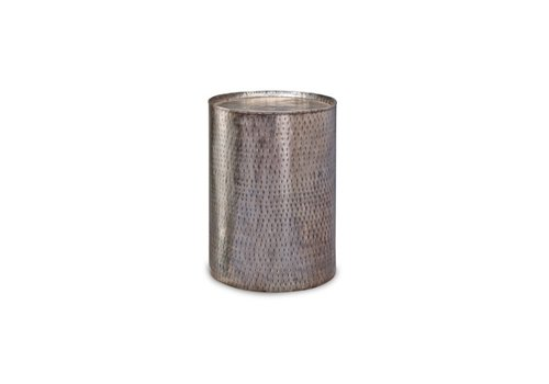 "Pala Hammered Metal 18"" End Table"