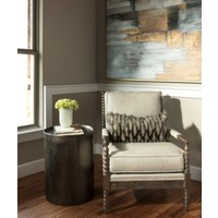 """Pala Hammered Metal 18"""" End Table"""