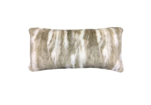 Pima Tan Faux Fur Bolster Pillow