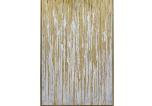 Spectre Gold Framed Hand Painted Canvas Art - Large