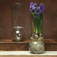 Large Recycled Glass Bulb Vase-15""