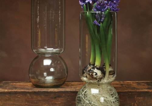 HomArt Large Recycled Glass Bulb Vase
