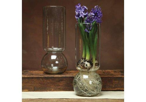 HomArt Large Recycled Glass Bulb Vase