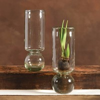 Recycled Glass Bulb Vase - 11.5""
