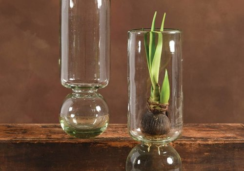 HomArt Recycled Glass Bulb Vase - 11.5""