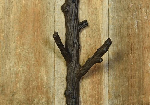 HomArt Tree branch cast iron wall hook