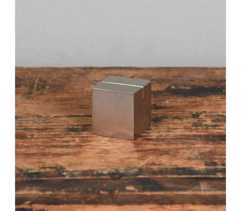 Cast Iron cube photo holder