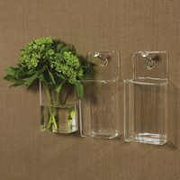 Glass Wall Pocket-Large Hole