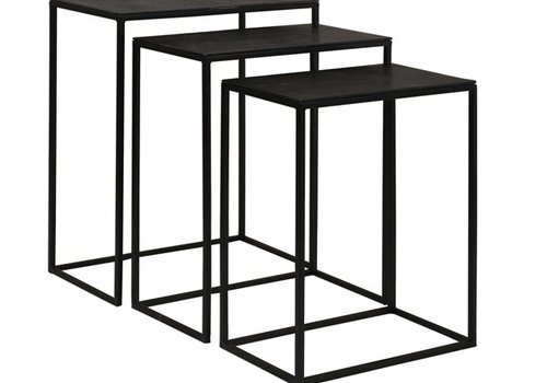 Coreene Black Iron Nesting Tables