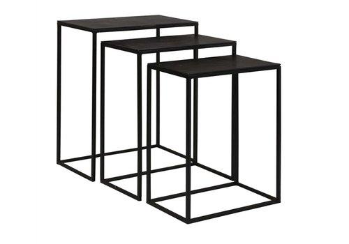 Coreene Black Iron Nesting Tables