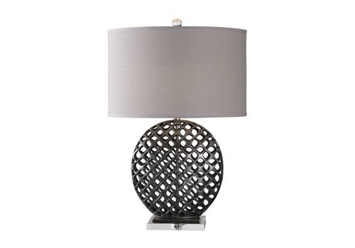 "Jameau 32"" Cast Iron Table Lamp"