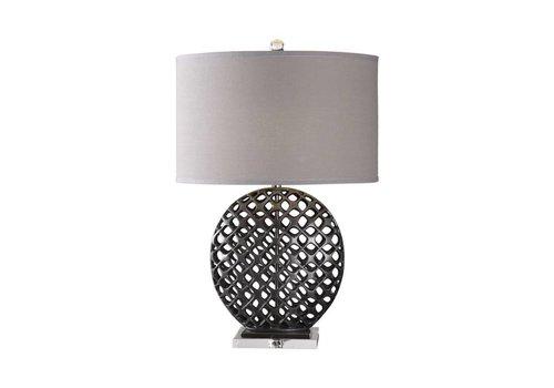 "Jameau 32"" Cast Iron Table Lamp"