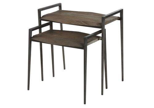 Penn Reclaimed Wood & Iron Nesting Tables
