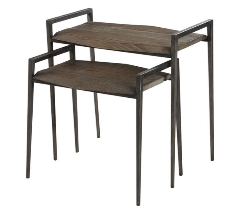 Penn Reclaimed Wood & Iron Nesting Tables