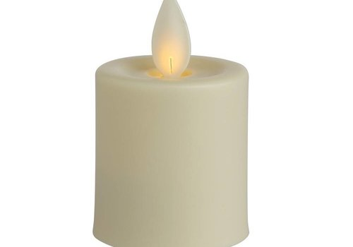 Ivory LED Votive Candle S/2