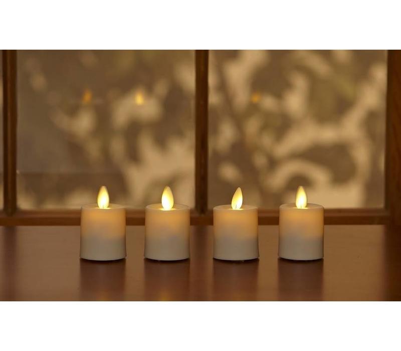 Ivory LED Votive Candle S/2