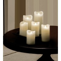 "3"" Dia Ivory Wax Pillar LED Candle"