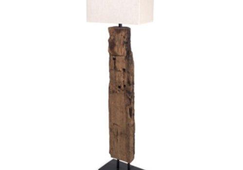 Reclaimed Wood Floor Lamp