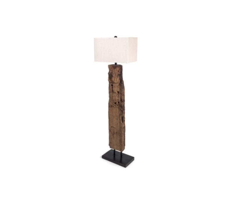 Reclaimed Wood Floor Lamp