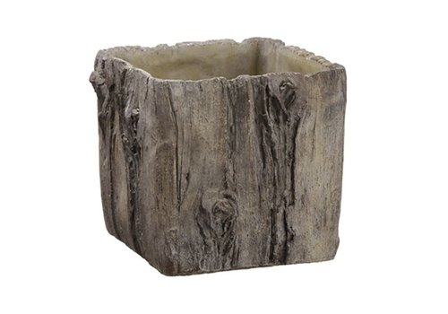 "7"" Square Cement Planter"