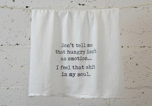 """don't tell me"" - Dish Towel"