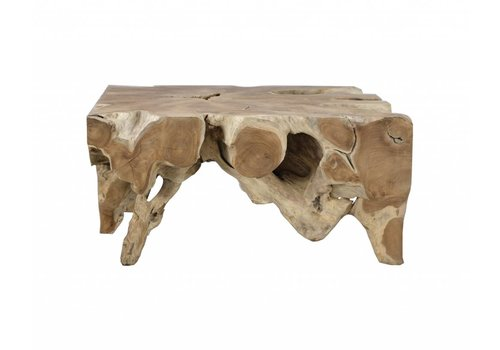 Jakarta Natural Small Wood Cocktail Table