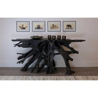 Jakarta Gray Large Wood Console Table