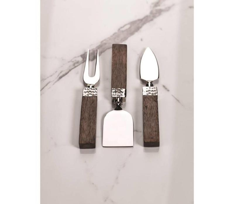 Mango Wood Cheese Tool-Set of 3